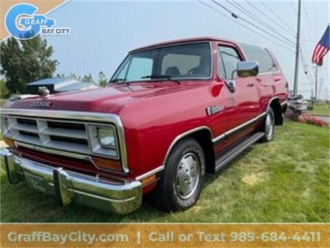 1990 Dodge Ramcharger for sale at GRAFF CHEVROLET BAY CITY in Bay City MI