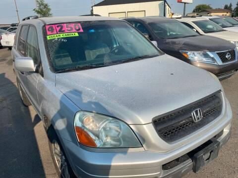 2005 Honda Pilot for sale at BELOW BOOK AUTO SALES in Idaho Falls ID