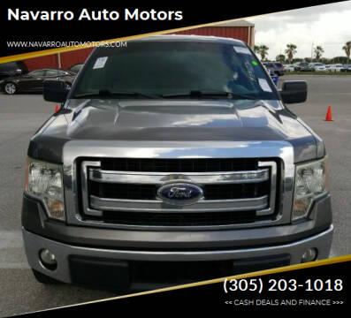 2013 Ford F-150 for sale at Navarro Auto Motors in Hialeah FL