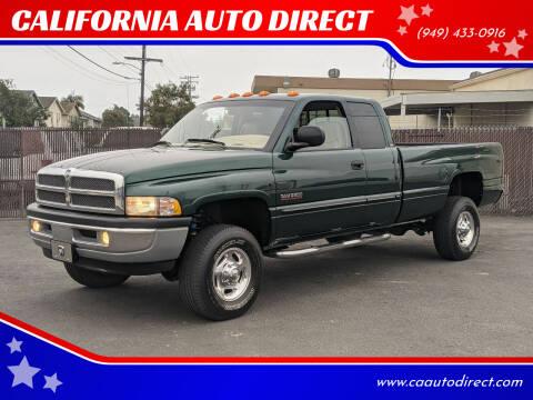 2001 Dodge Ram Pickup 2500 for sale at CALIFORNIA AUTO DIRECT in Costa Mesa CA