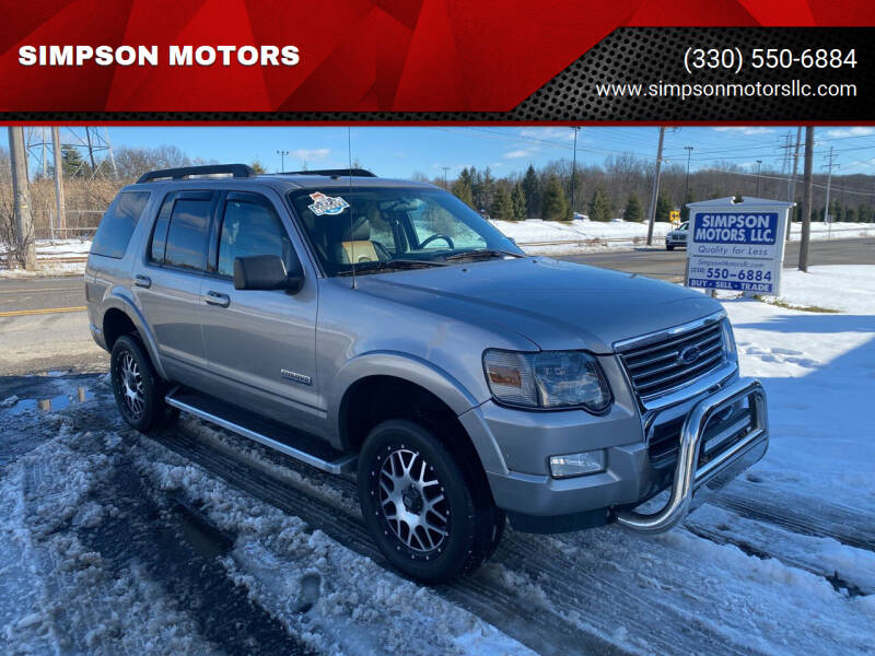 2008 Ford Explorer for sale at SIMPSON MOTORS in Youngstown OH