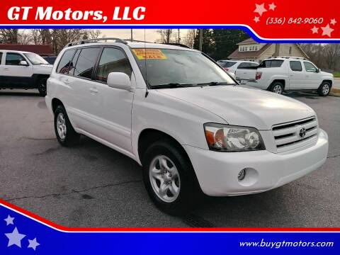 2006 Toyota Highlander for sale at GT Motors, LLC in Elkin NC