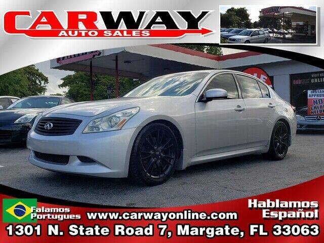 2008 Infiniti G35 for sale at CARWAY Auto Sales in Margate FL