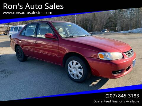 2001 Toyota Corolla for sale at Ron's Auto Sales in Washington ME