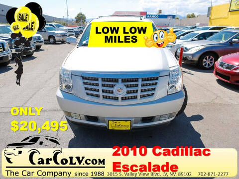 2010 Cadillac Escalade for sale at The Car Company in Las Vegas NV