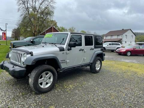 2012 Jeep Wrangler Unlimited for sale at Brush & Palette Auto in Candor NY