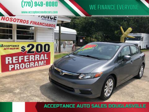 2012 Honda Civic for sale at Acceptance Auto Sales Douglasville in Douglasville GA