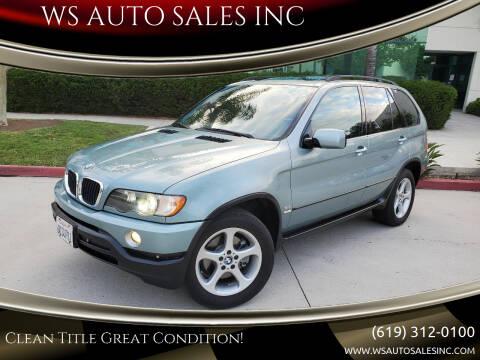 2003 BMW X5 for sale at WS AUTO SALES INC in El Cajon CA
