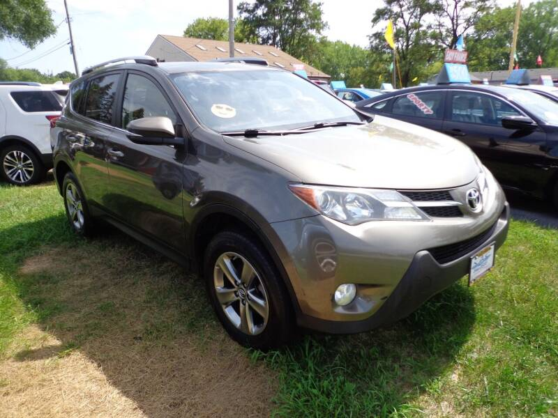 2015 Toyota RAV4 for sale at North American Credit Inc. in Waukegan IL