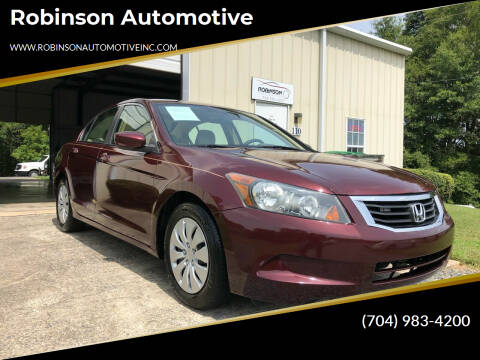 2009 Honda Accord for sale at Robinson Automotive in Albemarle NC