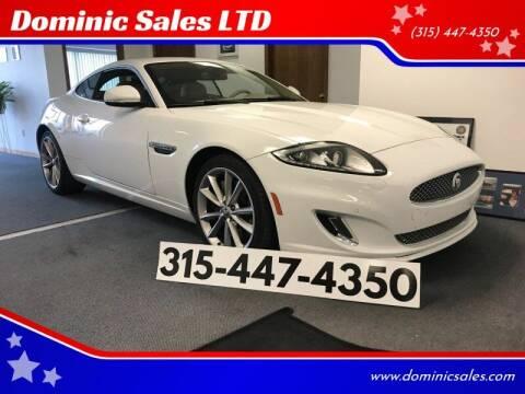 2013 Jaguar XK for sale at Dominic Sales LTD in Syracuse NY
