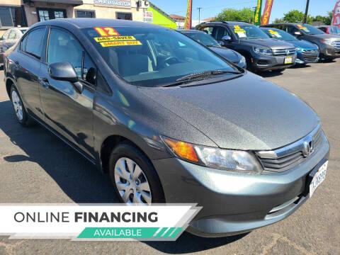 2012 Honda Civic for sale at Super Cars Sales Inc #1 - Super Auto Sales Inc #2 in Modesto CA