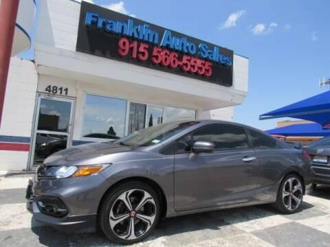 2014 Honda Civic for sale at Franklin Auto Sales in El Paso TX