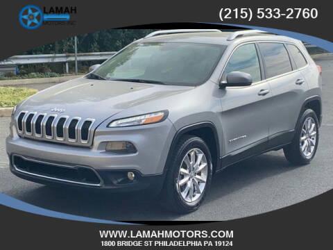 2016 Jeep Cherokee for sale at LAMAH MOTORS INC in Philadelphia PA