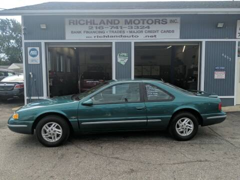 1997 Ford Thunderbird for sale at Richland Motors in Cleveland OH