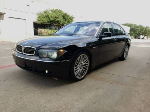 2005 BMW 7 Series for sale at ZNM Motors in Irving TX