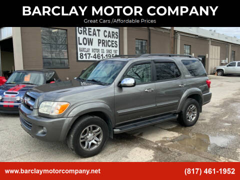 2007 Toyota Sequoia for sale at BARCLAY MOTOR COMPANY in Arlington TX