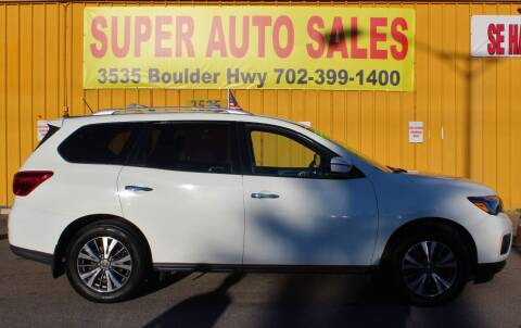 2017 Nissan Pathfinder for sale at Super Auto Sales in Las Vegas NV