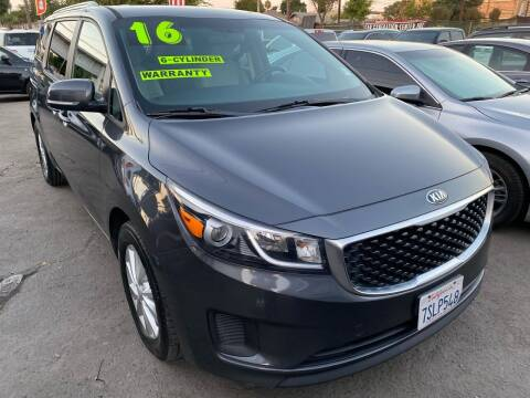 2016 Kia Sedona for sale at CAR GENERATION CENTER, INC. in Los Angeles CA