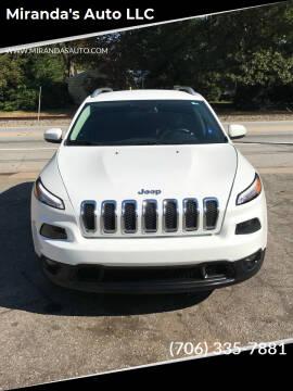 2016 Jeep Cherokee for sale at Miranda's Auto LLC in Commerce GA