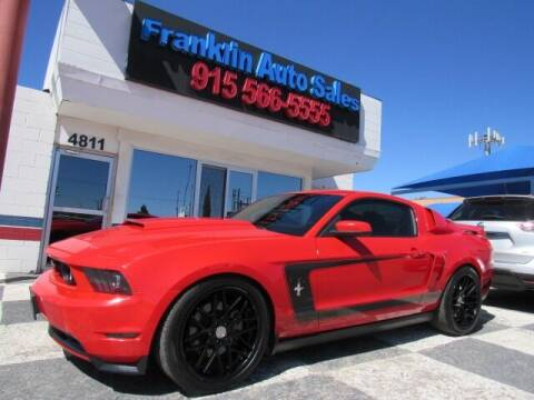 2012 Ford Mustang for sale at Franklin Auto Sales in El Paso TX