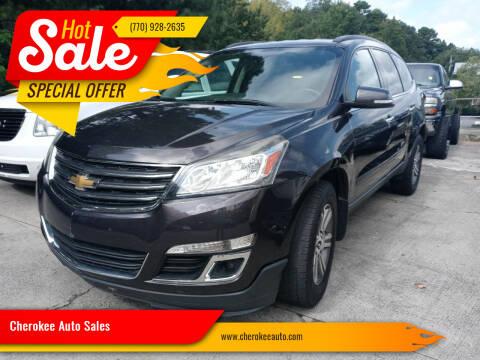 2016 Chevrolet Traverse for sale at Cherokee Auto Sales in Acworth GA