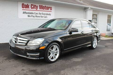 2013 Mercedes-Benz C-Class for sale at Oak City Motors in Garner NC