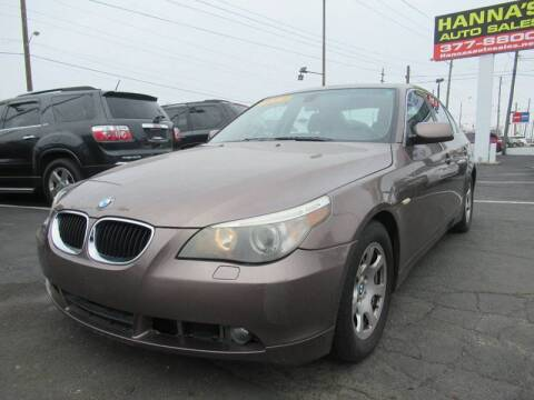 2004 BMW 5 Series for sale at Hanna's Auto Sales in Indianapolis IN