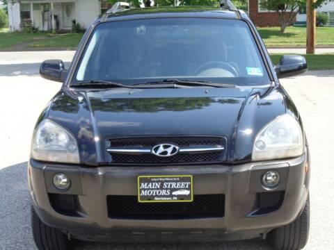 2007 Hyundai Tucson for sale at MAIN STREET MOTORS in Norristown PA