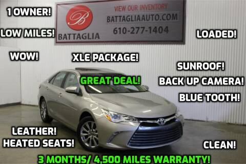 2017 Toyota Camry for sale at Battaglia Auto Sales in Plymouth Meeting PA
