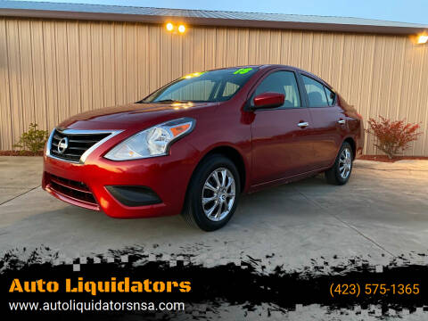 2018 Nissan Versa for sale at Auto Liquidators in Bluff City TN