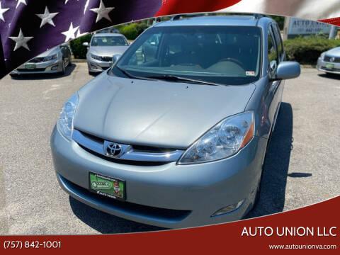 2007 Toyota Sienna for sale at Auto Union LLC in Virginia Beach VA