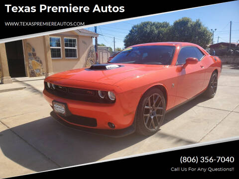2017 Dodge Challenger for sale at Texas Premiere Autos in Amarillo TX