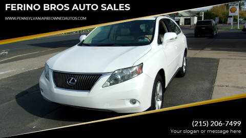 2010 Lexus RX 350 for sale at FERINO BROS AUTO SALES in Wrightstown PA