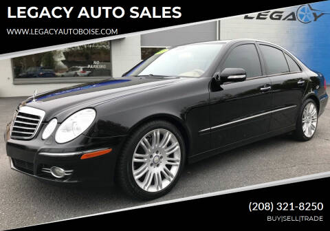 2008 Mercedes-Benz E-Class for sale at LEGACY AUTO SALES in Boise ID