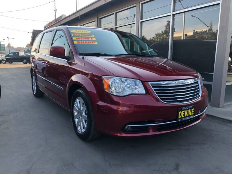 2016 Chrysler Town and Country for sale at Devine Auto Sales in Modesto CA