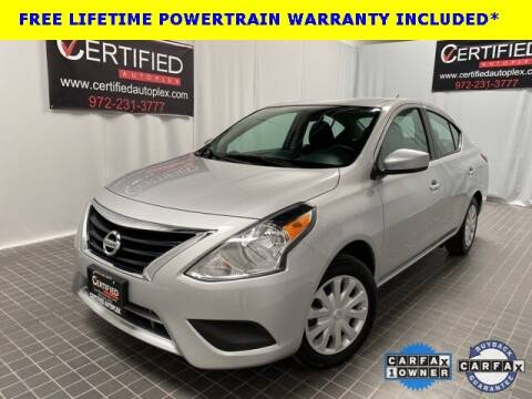 2019 Nissan Versa for sale at CERTIFIED AUTOPLEX INC in Dallas TX