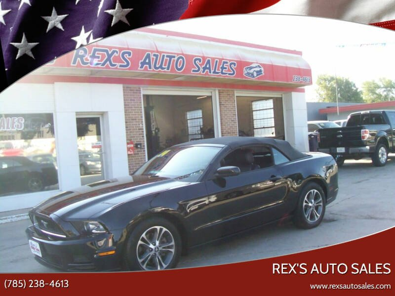 2014 Ford Mustang for sale at Rex's Auto Sales in Junction City KS