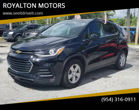 2018 Chevrolet Trax for sale at ROYALTON MOTORS in Plantation FL