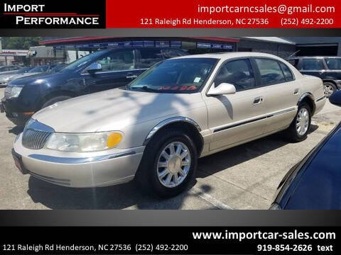 2002 Lincoln Continental for sale at Import Performance Sales - Henderson in Henderson NC