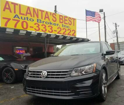 2017 Volkswagen Passat for sale at Atlanta's Best Auto Brokers in Marietta GA