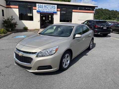 2015 Chevrolet Malibu for sale at S & S Motors in Marietta GA