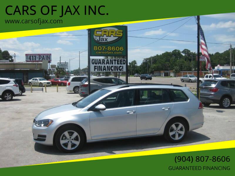 2015 Volkswagen Golf SportWagen for sale at CARS OF JAX INC. in Jacksonville FL