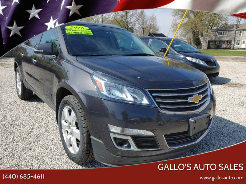 2016 Chevrolet Traverse for sale at Gallo's Auto Sales in North Bloomfield OH