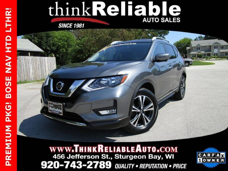 2017 Nissan Rogue for sale at RELIABLE AUTOMOBILE SALES, INC in Sturgeon Bay WI