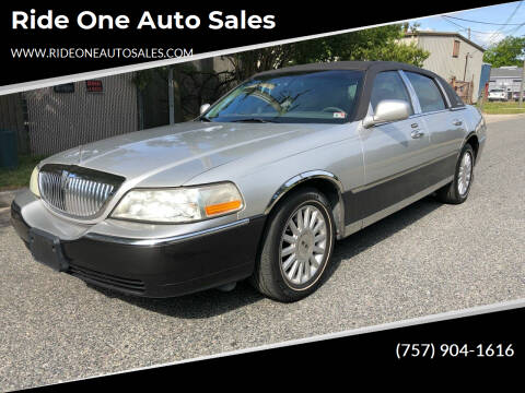 2005 Lincoln Town Car for sale at Ride One Auto Sales in Norfolk VA