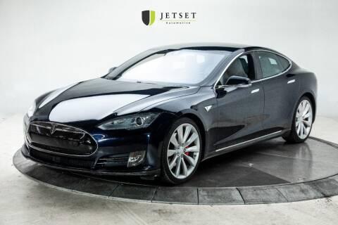2014 Tesla Model S for sale at Jetset Automotive - Electric Cars in Cedar Rapids IA