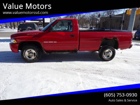 1999 Dodge Ram Pickup 1500 for sale at Value Motors in Watertown SD