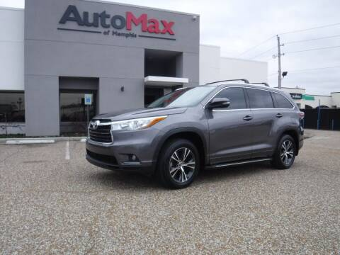 2016 Toyota Highlander for sale at AutoMax of Memphis - Logan Karr in Memphis TN