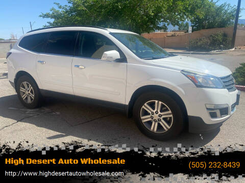 2016 Chevrolet Traverse for sale at High Desert Auto Wholesale in Albuquerque NM